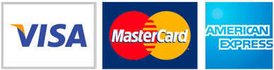 We accept Visa MasterCard and Amex